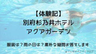 【体験記】杉乃井ホテルアクアガーデンでの服装!雨の日も水着でTシャツNG